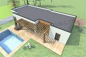 Plan Maison Contemporaine Toit Plat : plan de maison contemporaine boxtobox ~ Nature-et-papiers.com Idées de Décoration