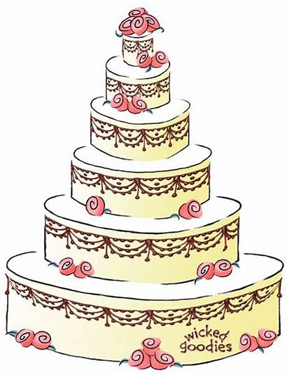 Cake Cartoon Contract Cakes Clipart Write Clip