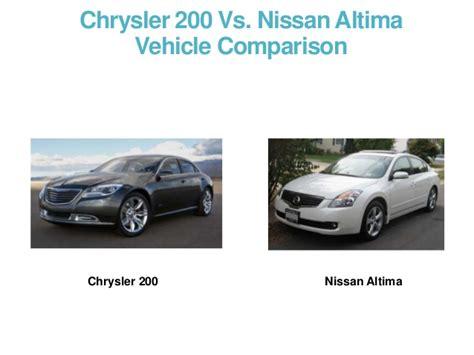 Chrysler 200 Vs Nissan Altima Vehicle Comparison