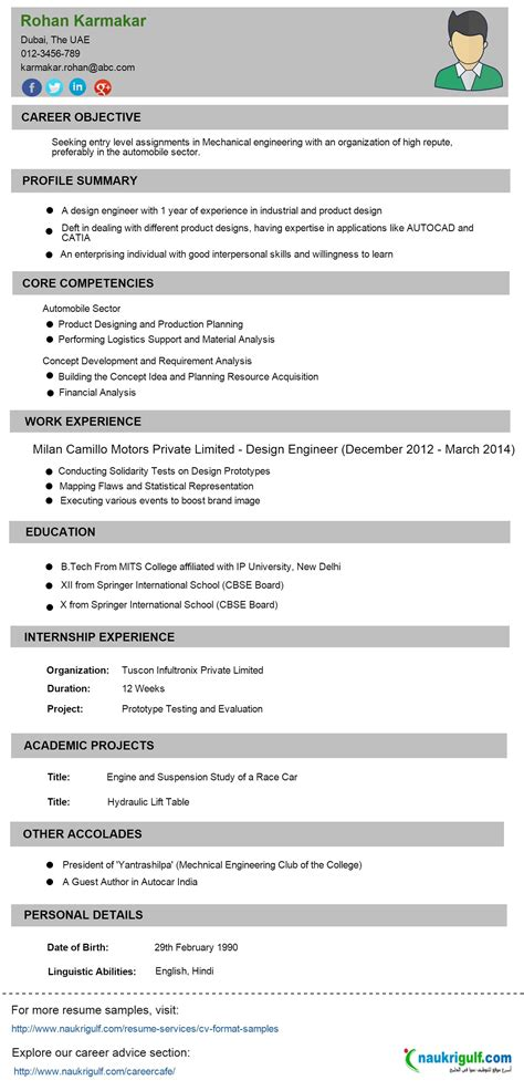 Engineer Resume Format by Engineering Resume Sle Engineering Cv And Sle