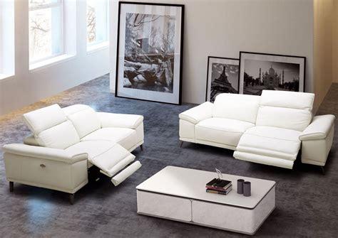 white living room set gaia white leather power reclining living room set 18253