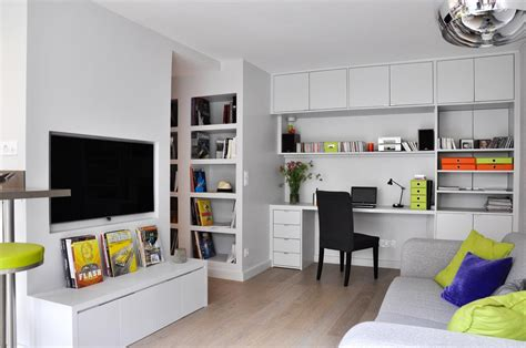 bureau pour salon coin télé et bureau encastré dans le salon les murs ont des oreilles