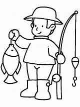 Coloring Fisherman Raskraski Rod Printable Fishing Dlya Professii Detej раскраски профессии для детей распечатать Mycoloring Detskie детские Fire Farm Farmer sketch template