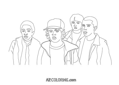 stranger  coloring pages coloring home
