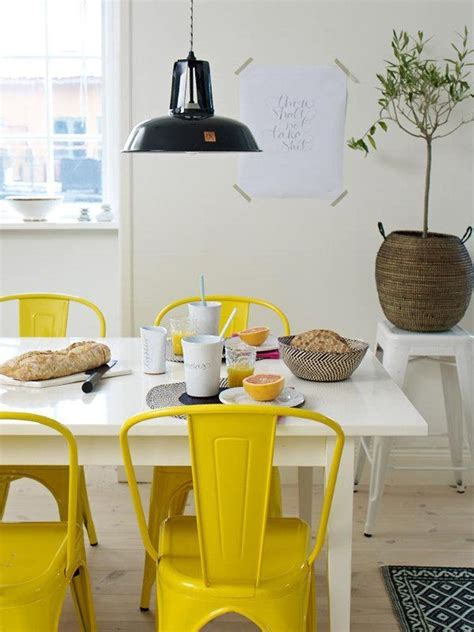 15 Colorful Tolix Chairs Under $200 | Yellow dining room ...