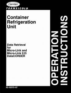 Carrier Container Refrigeration Unit Operating