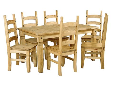 wooden dining table and 6 chairs large pine wooden dining table and 6 chairs homegenies