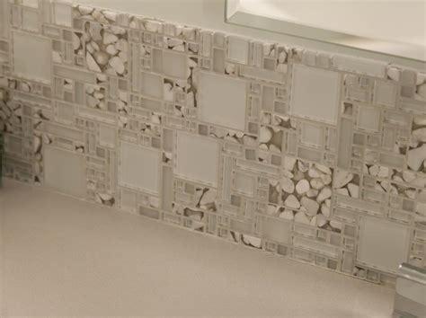 master bathroom shower floor mosaic detail glas mosaic tile backsplash detail