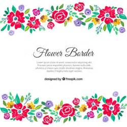 rustic save the date colorful floral border vector premium