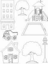 Neighborhood Map Coloring Template Community sketch template