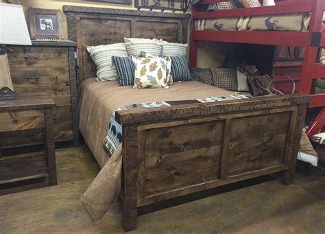 reclaimed wood bedroom set bradley s furniture etc utah rustic bedroom furniture 16947 | Mtn Alder Panel Bed