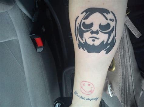 gorgeous face nirvana tattoo