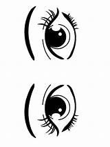 Coloring Eyes Printable Mycoloring sketch template