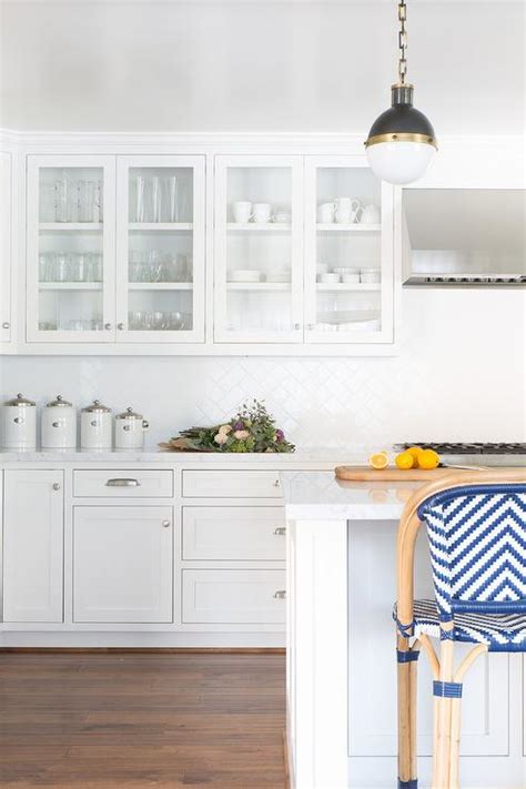 white herringbone backsplash white porcelain herringbone kitchen backsplash transitional kitchen