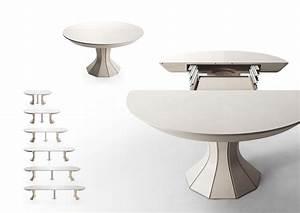 table ronde blanche avec rallonge