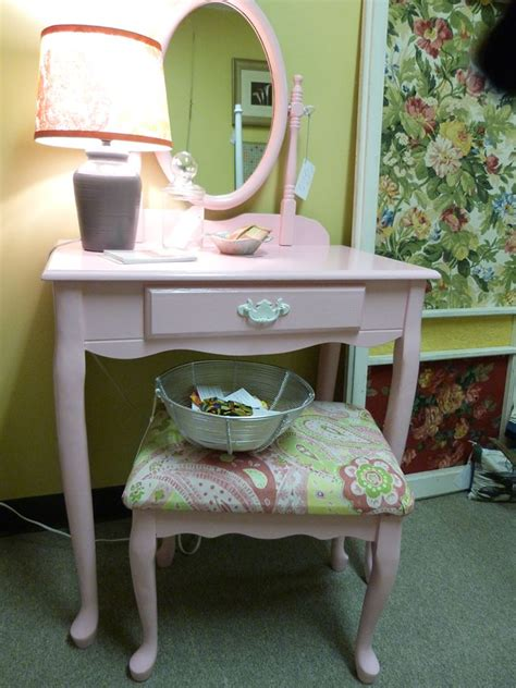 pink chair for vanity before after pink vanity set a design help