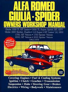 Alfa Romeo Shop Manual Service Repair Book Owners Workshop Spider Giulia 62
