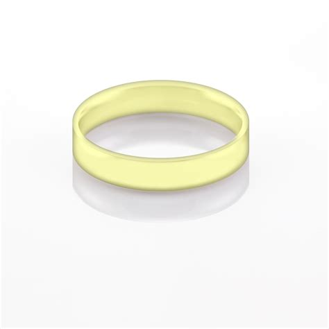 4mm flat court wedding band in 18ct yellow gold london