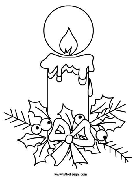 candela natalizia da colorare disegno candela con agrifoglio tuttodisegni