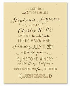 unique wedding invitations on seeded paper by With cost of handwritten wedding invitations
