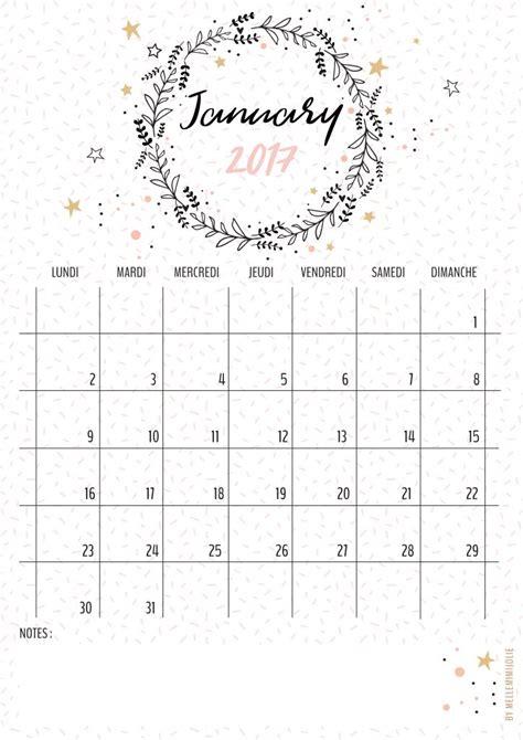 calendrier janvier  mellemimijolie