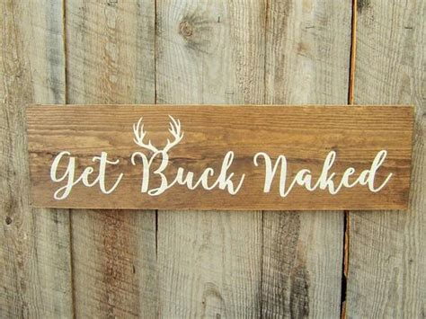 buck naked sign modern rustic home