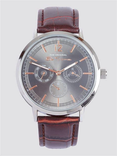silver brown strap wrist  ben sherman est