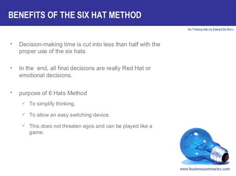 Benefits Of The Six Hat