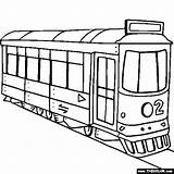 Coloring Pages Trolley Street Drawing Land Tram Transport Trains Printable Train Race Thecolor Colouring Cartoon Cars Sheet Transportation Locomotive Books sketch template