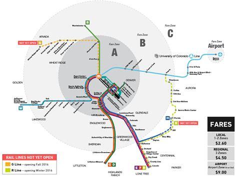 light rail map denver rtd