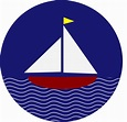 Sail Boat With Waves Clip Art at Clker.com - vector clip ...