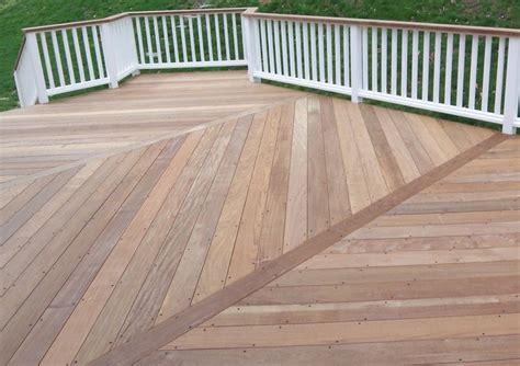 sealing  oiling ipe decks ipe deck  bays herringbone