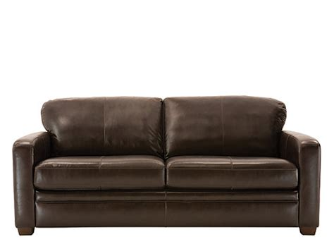trent leather queen sleeper sofa dark chocolate