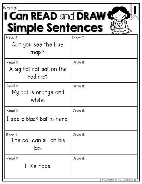 the 25 best simple sentences ideas on simple 427 | 211a3d7f8516562ba433fc391108f9b4 kindergarten reading teaching reading