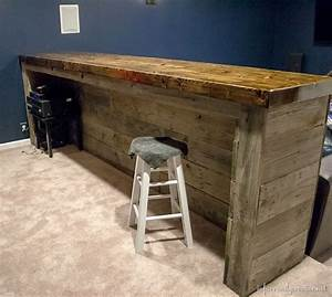 Man Cave Wood Pallet Bar {Free DIY Plans} - Infarrantly