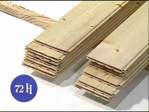 la pose d39un lambris bois youtube With pose de parquet pvc