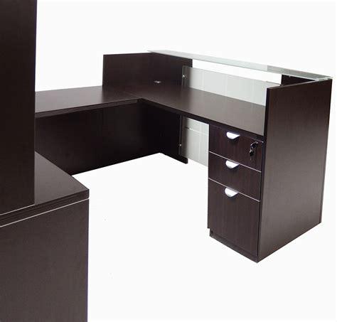 front desk reception furniture u shaped glass front reception desk w hutch
