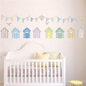 Beach huts wall stickers by parkins interiors for Beach wall decals