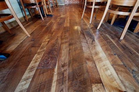 Woodland Cut Circle Sawn Walnut Flooring Traditional