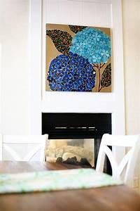 Pier mosaic hydrangea wall decor imports
