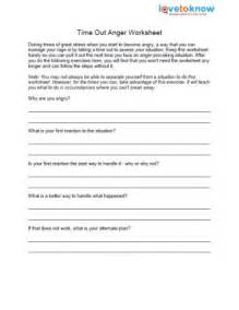 Anger Time Out Worksheet