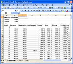 Excel Tabelle Summe Berechnen : darlehenskalkulator mit excel und access access im unternehmen ~ Themetempest.com Abrechnung