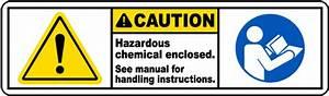 Chemicals Enclosed See Manual Label J6403