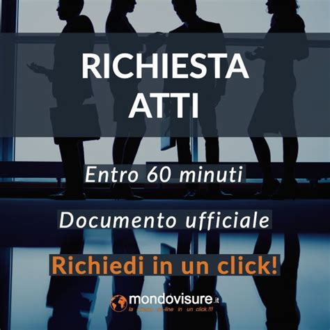 richiesta atti  camera  commercio documento