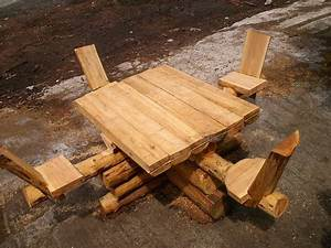 Rondin De Bois Table : table en rondin de m l ze reivilo ~ Teatrodelosmanantiales.com Idées de Décoration