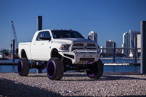 White Truck Wallpaper by White Lifted Dodge Ram 2500 Adv08r Truck Spec Hd1 Wheels