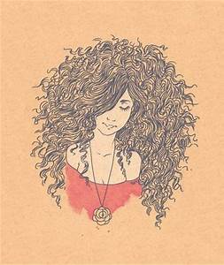 Natural hair curly drawing | Natural Hair | Pinterest