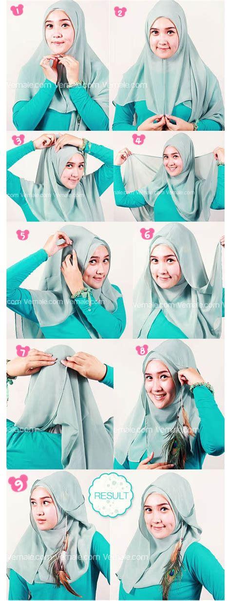tutorial hijab segi empat part
