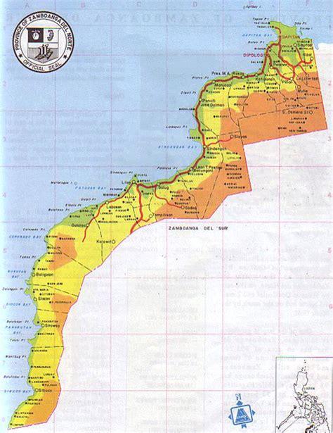 map  zamboanga del norte province philippines