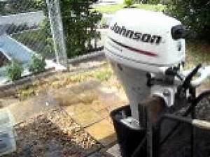 2006 Johnson 9 9hp 4 Stroke Shortshaft Tiller Outboard Low